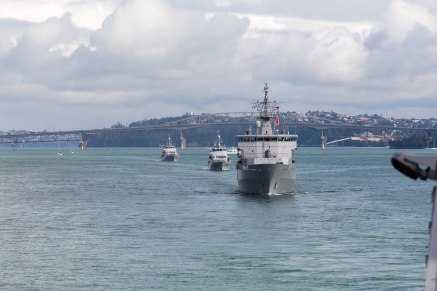The first few weeks of the Work Up have been focussing on getting our basic core mariner and warfighting skills right. This has seen us operating out in the Hauraki Gulf and the Bay of Plenty, completing training both by ourselves and in-company with some of the other ships of the RNZN.